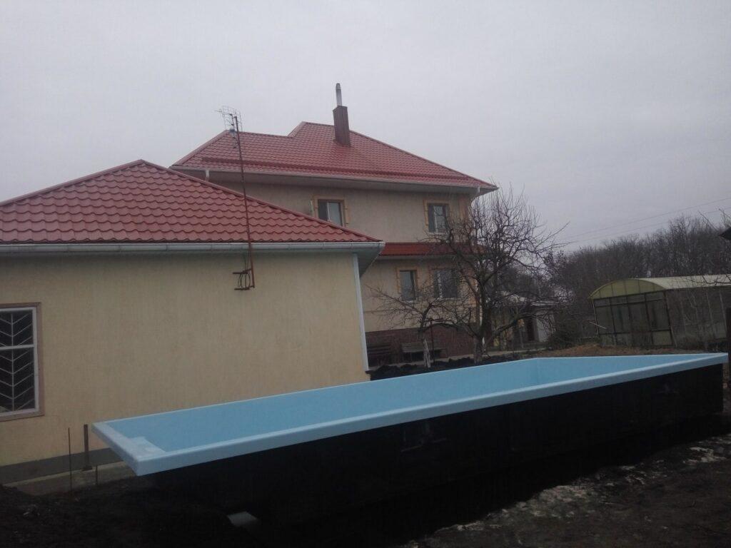 Установленный бассейн в г.Днепр