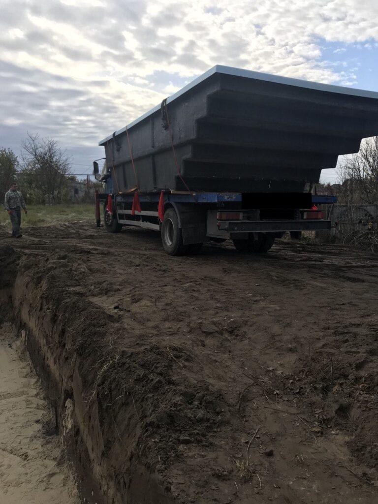 Доставка композитного бассейна 7,6 метров в Днепр