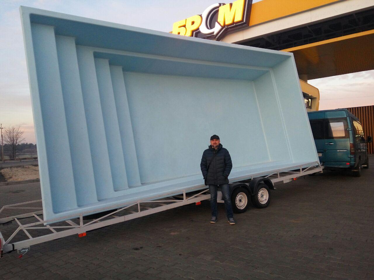 Доставка композитного бассейна в г.Одесса