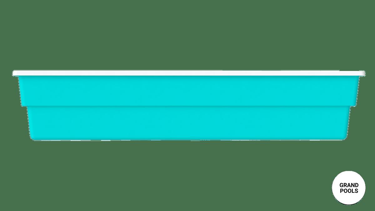 Композитный бассейн Лагуна 7 метров вид с боку