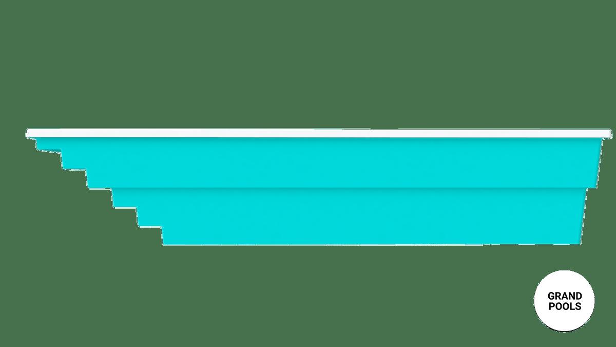 Композитный бассейн Оазис 7,6 метров вид с боку