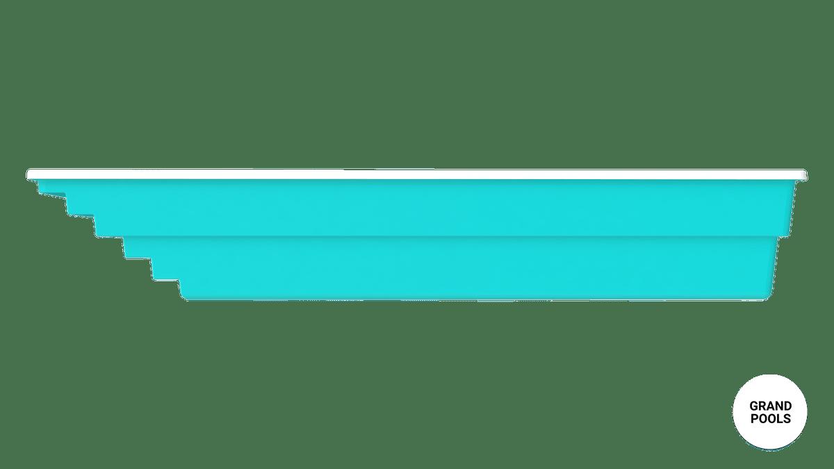 Композитный бассейн Оазис 9 метров вид с боку
