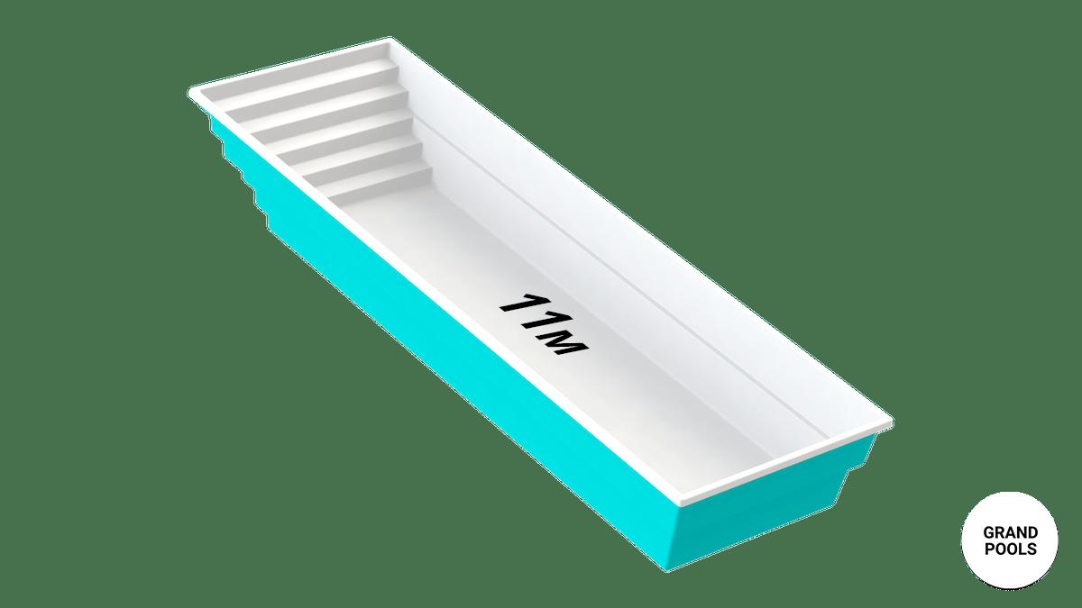 Купить композитный бассейн серии Оазис 11 метров