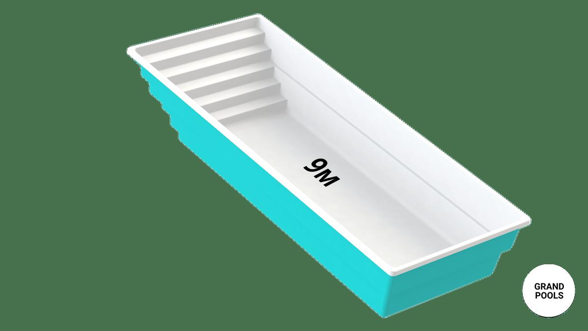 Купить композитный бассейн серии Оазис 9 метров