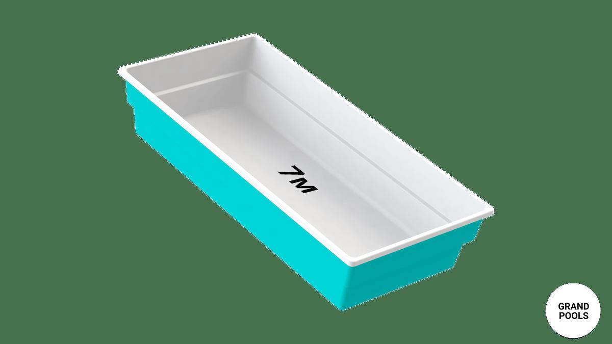 Купить композитный бассейн серии Лагуна 7 метров