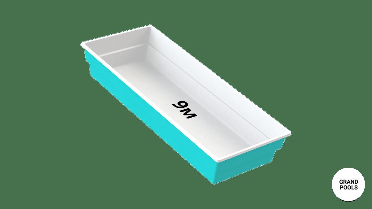 Купить композитный бассейн серии Лагуна 9 метров