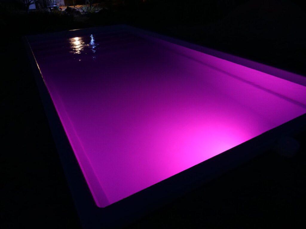Подсветка чаши бассейна