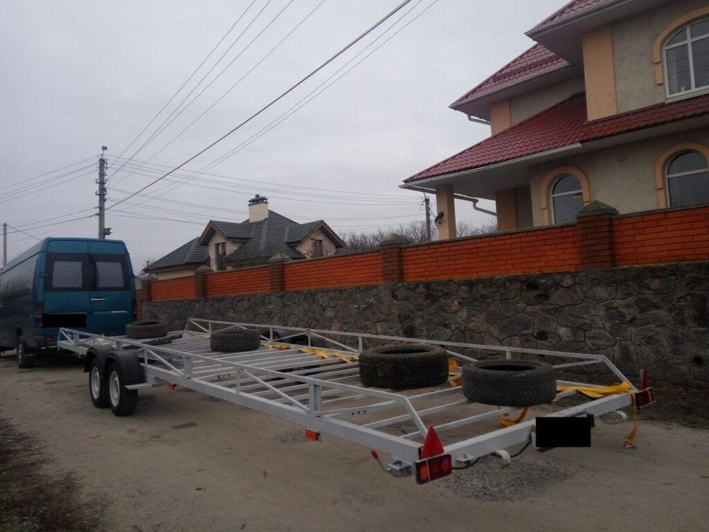 Прицеп для доставки бассейна по всей Украине