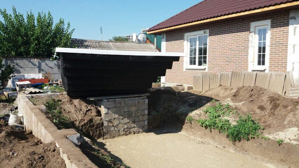 Установка бассейна 7,6 метров