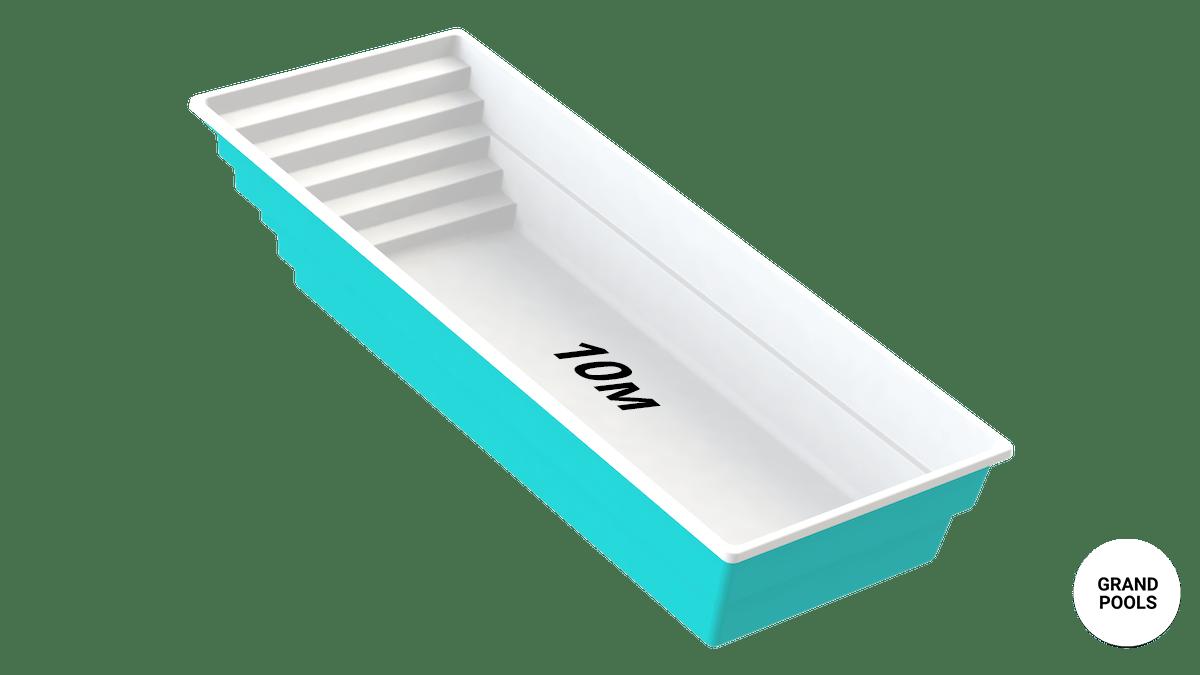 Купить композитный бассейн серии Оазис 10 метров