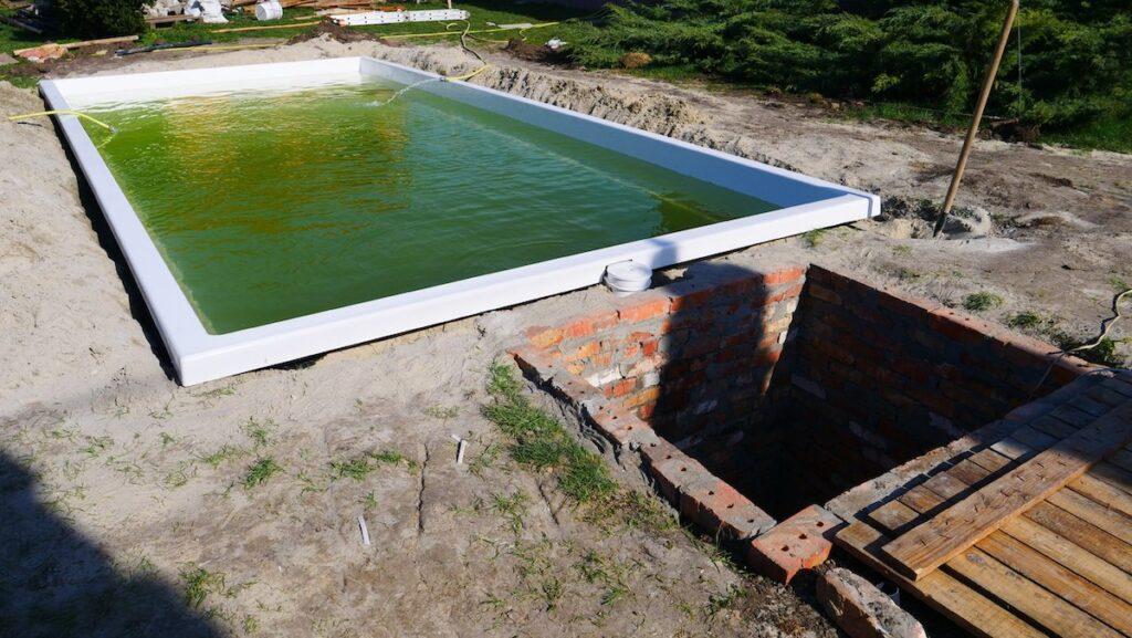 Завершение установки бассейна Оазис