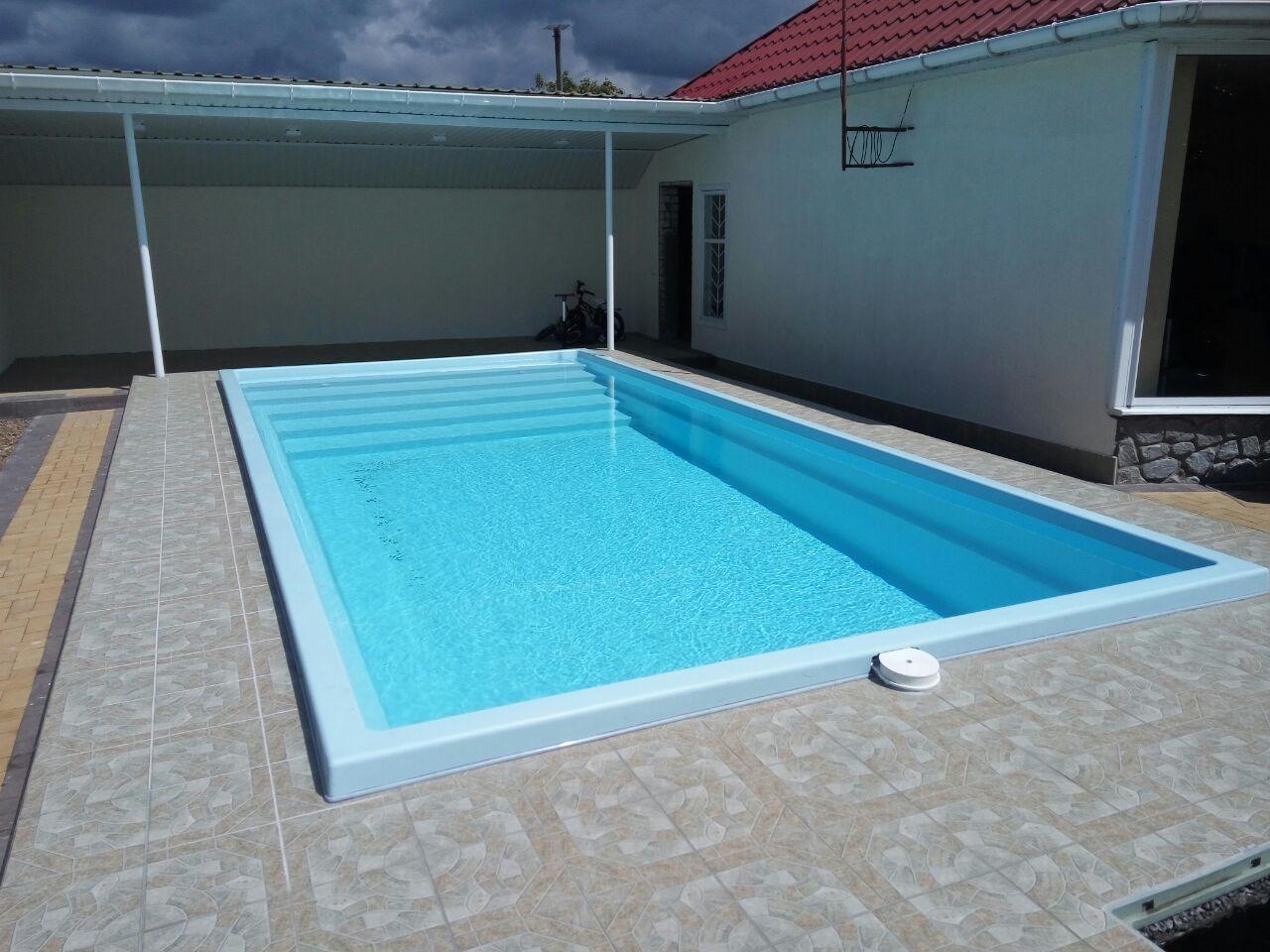 Композитный бассейн ОАЗИС 7,6 метров готовый проект