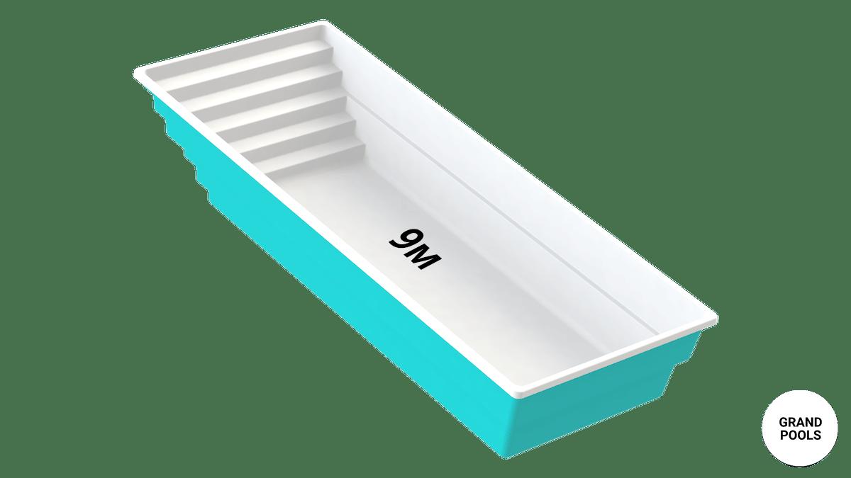 Купити композитний басейн серії Оазис 9 метрів