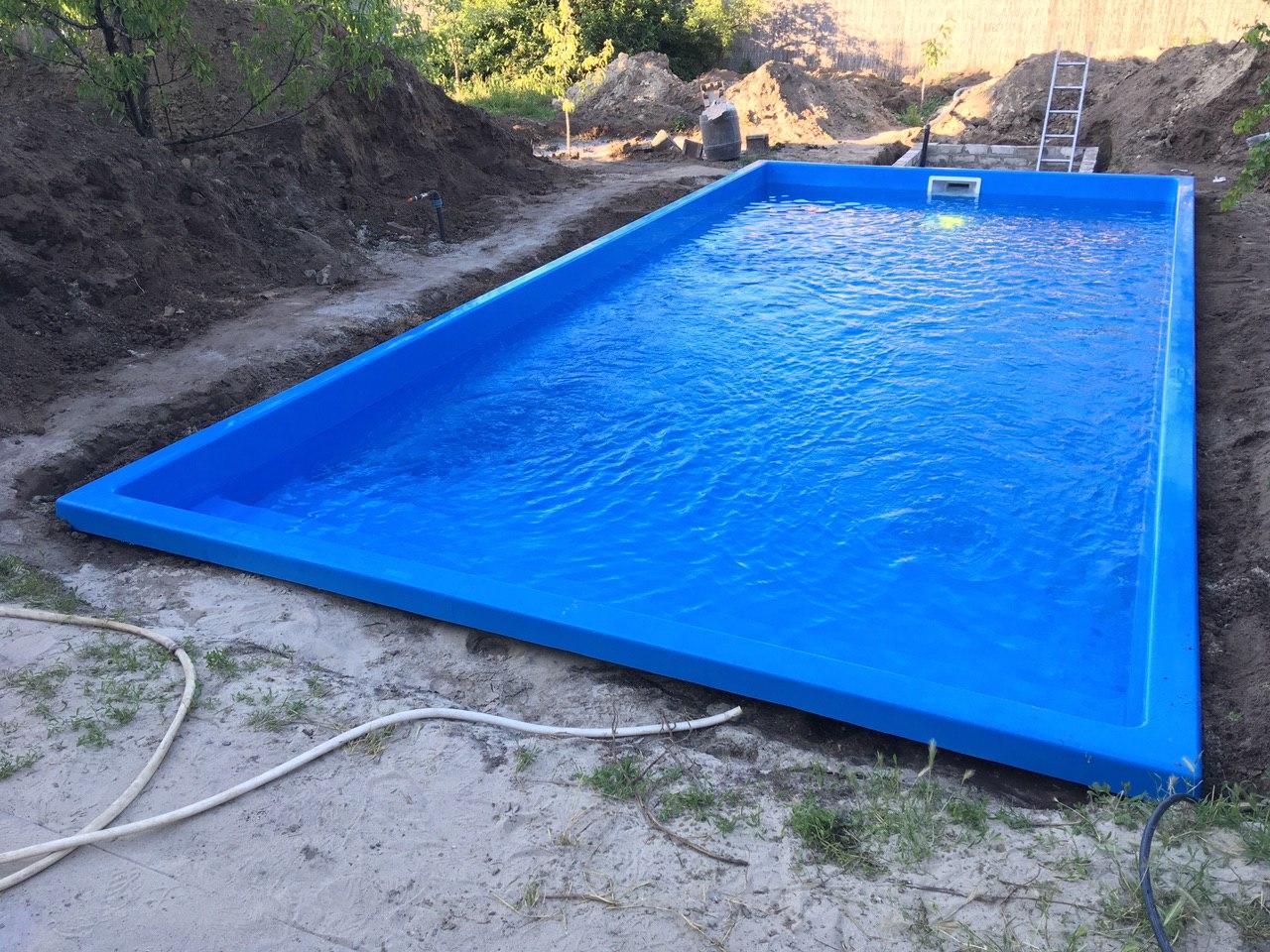 Композитный бассейн серии Оазис 7,6 метров в городе Днепр